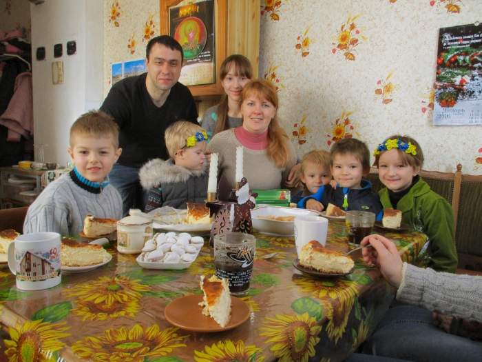 Sascha, Frau und 6 Kinder